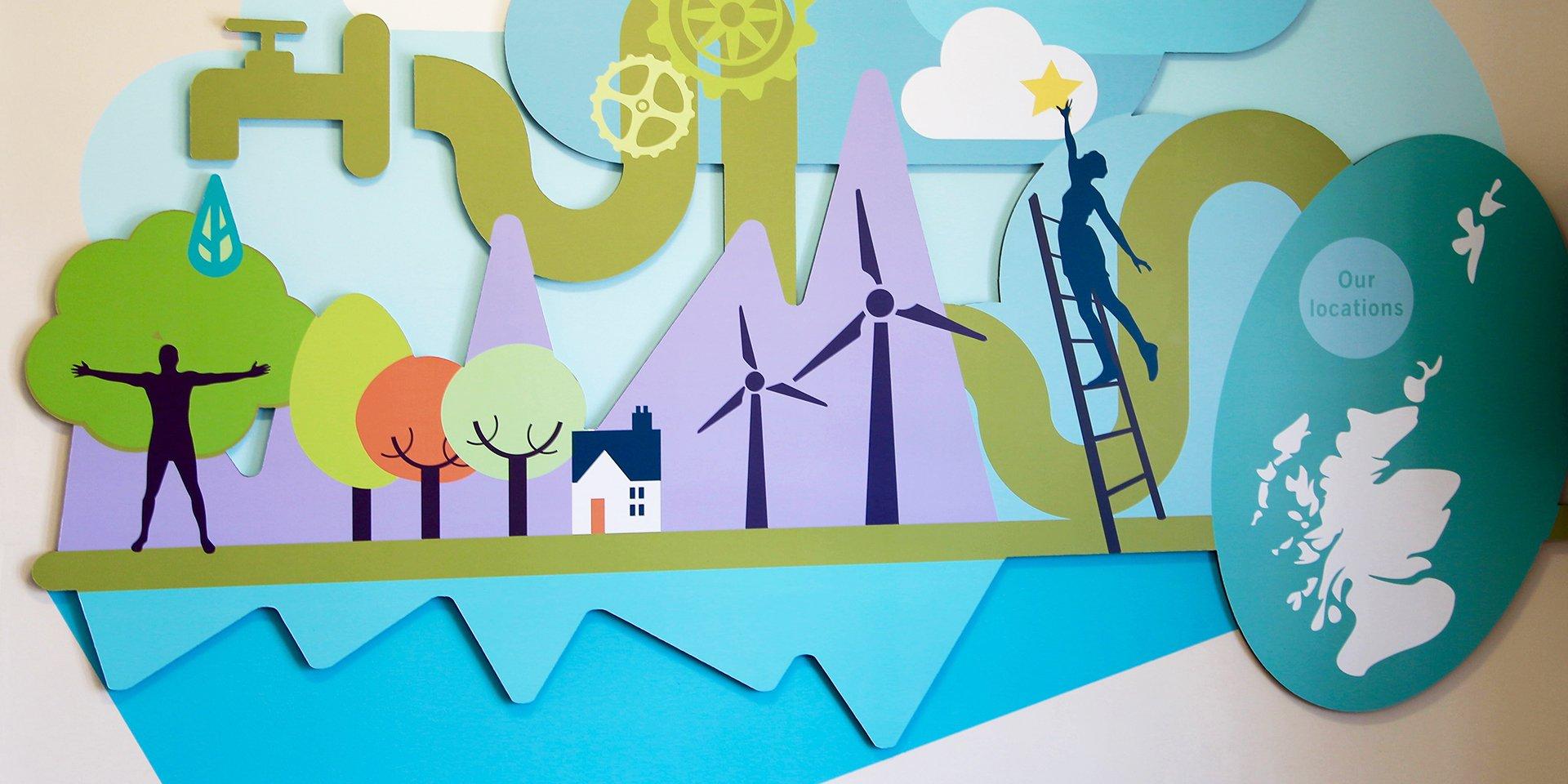Changeworks 3D wall art