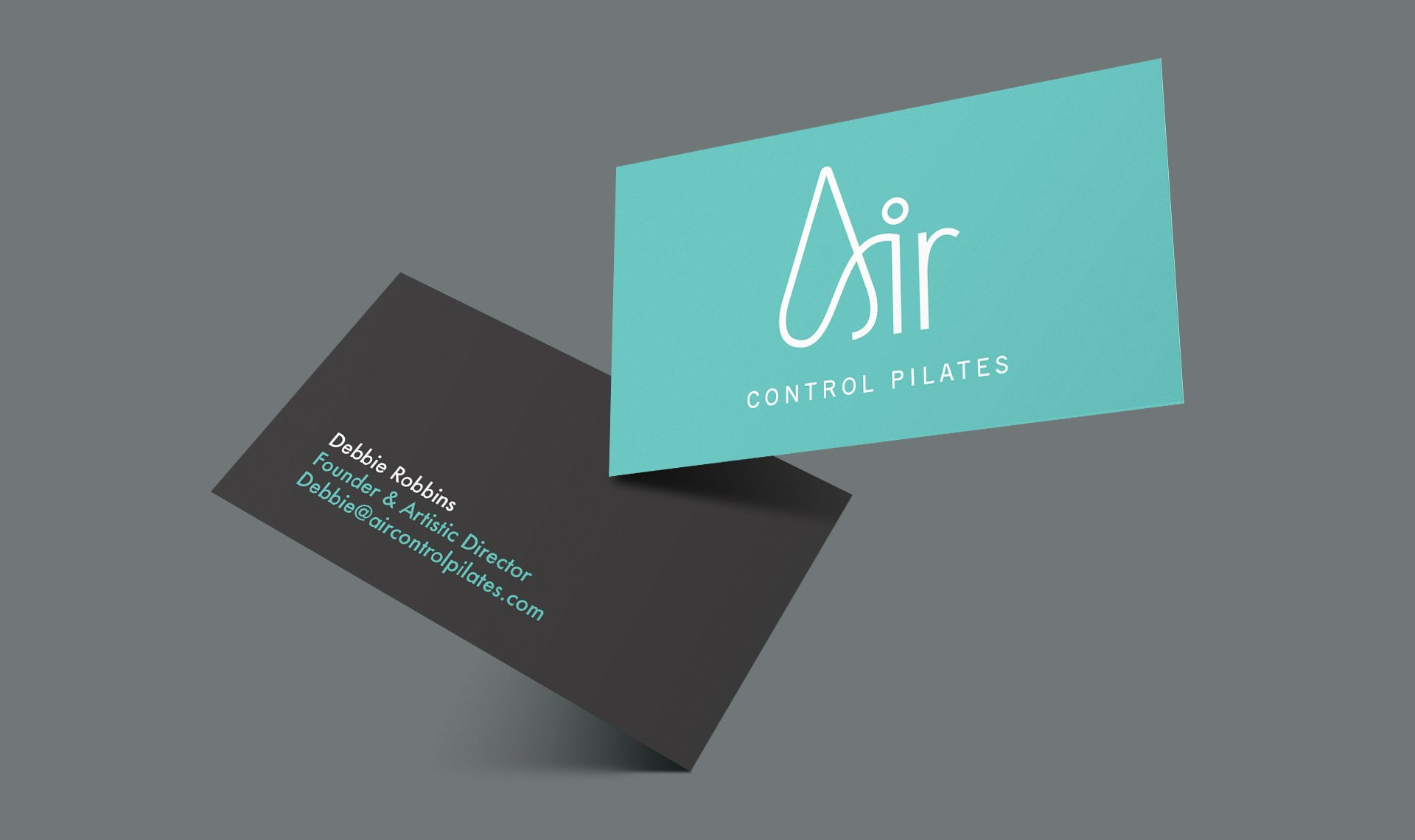 Air Control Pilates business cards