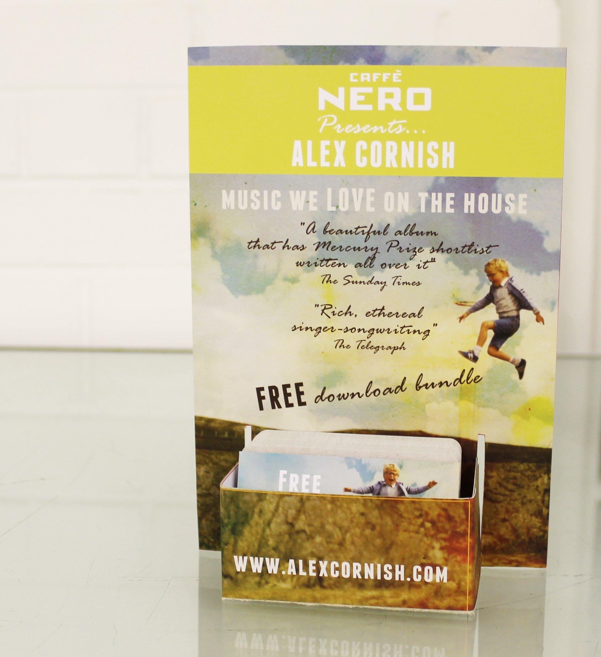 Designed card holder for Alex Cornish promo for Caffe Nero