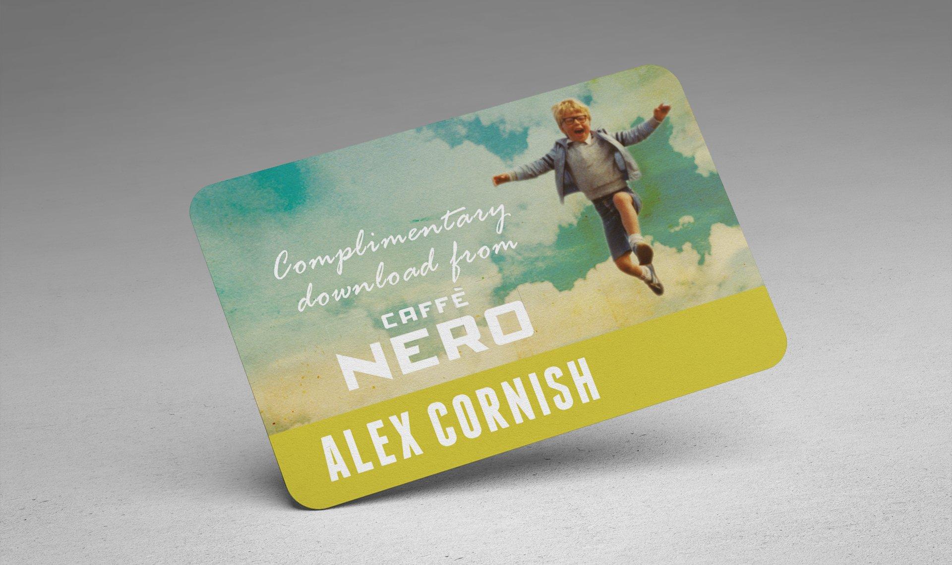 Alex Cornish free download card for Caffe Nero promo