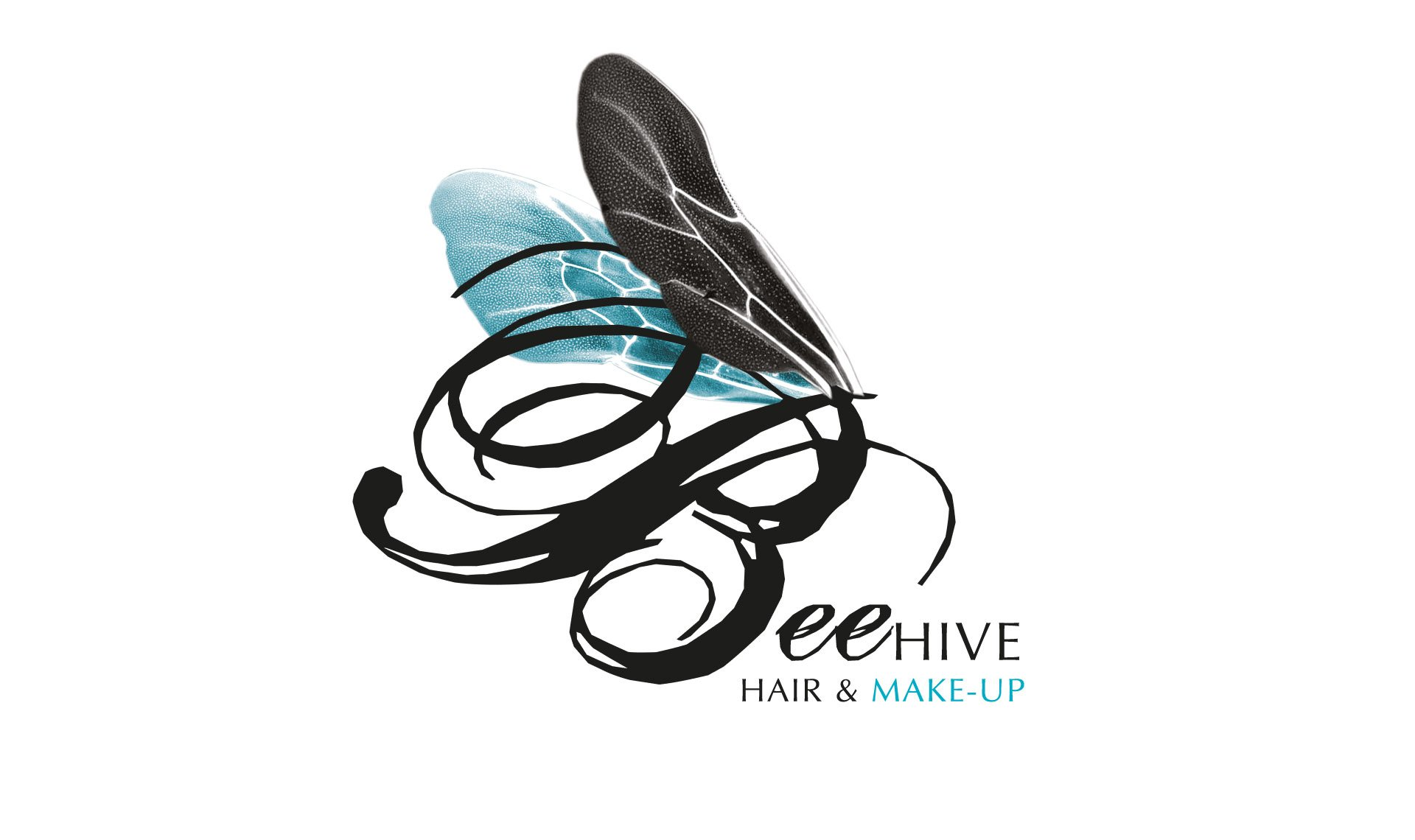 Beehive logo is the letter B with Insect wings
