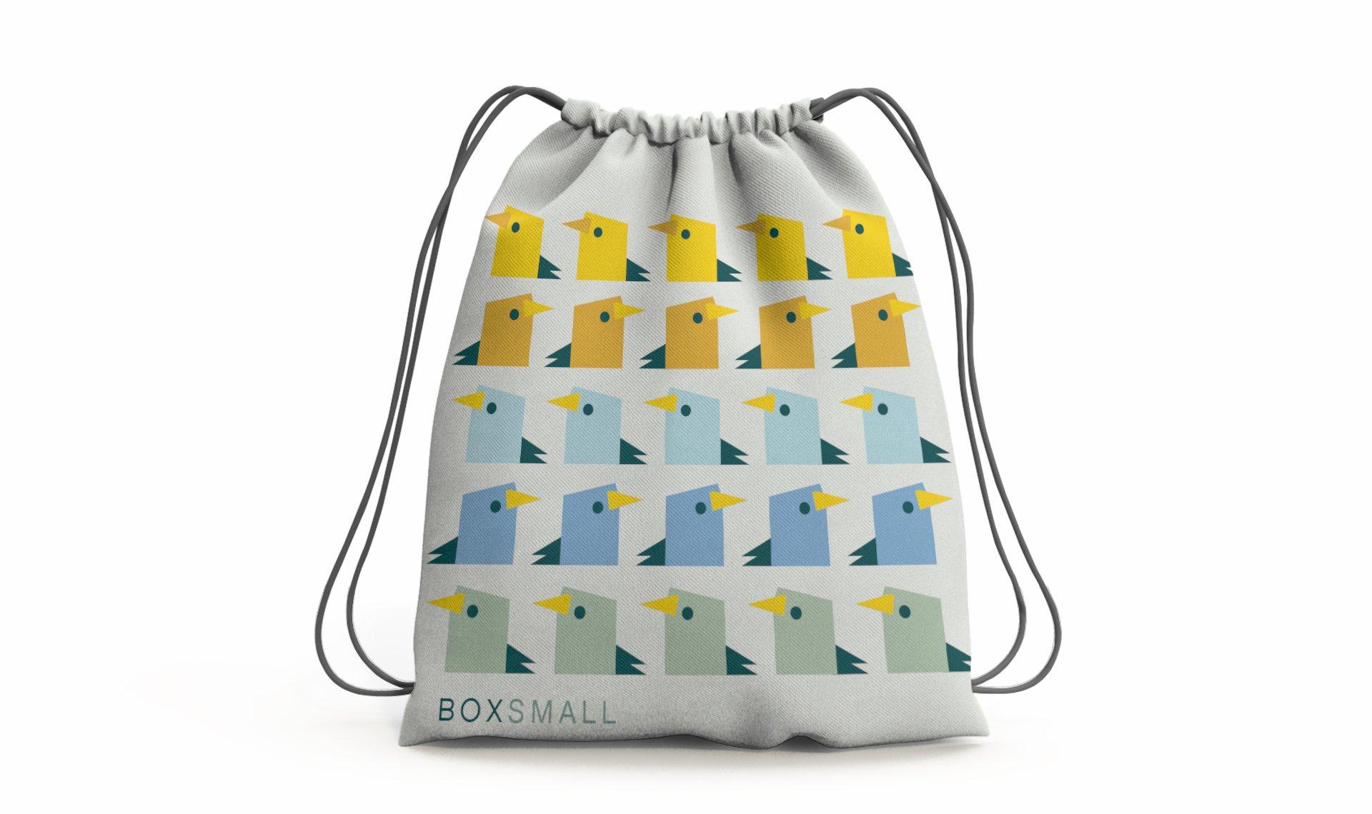 BoxSmall Edinburgh drawstring bag design