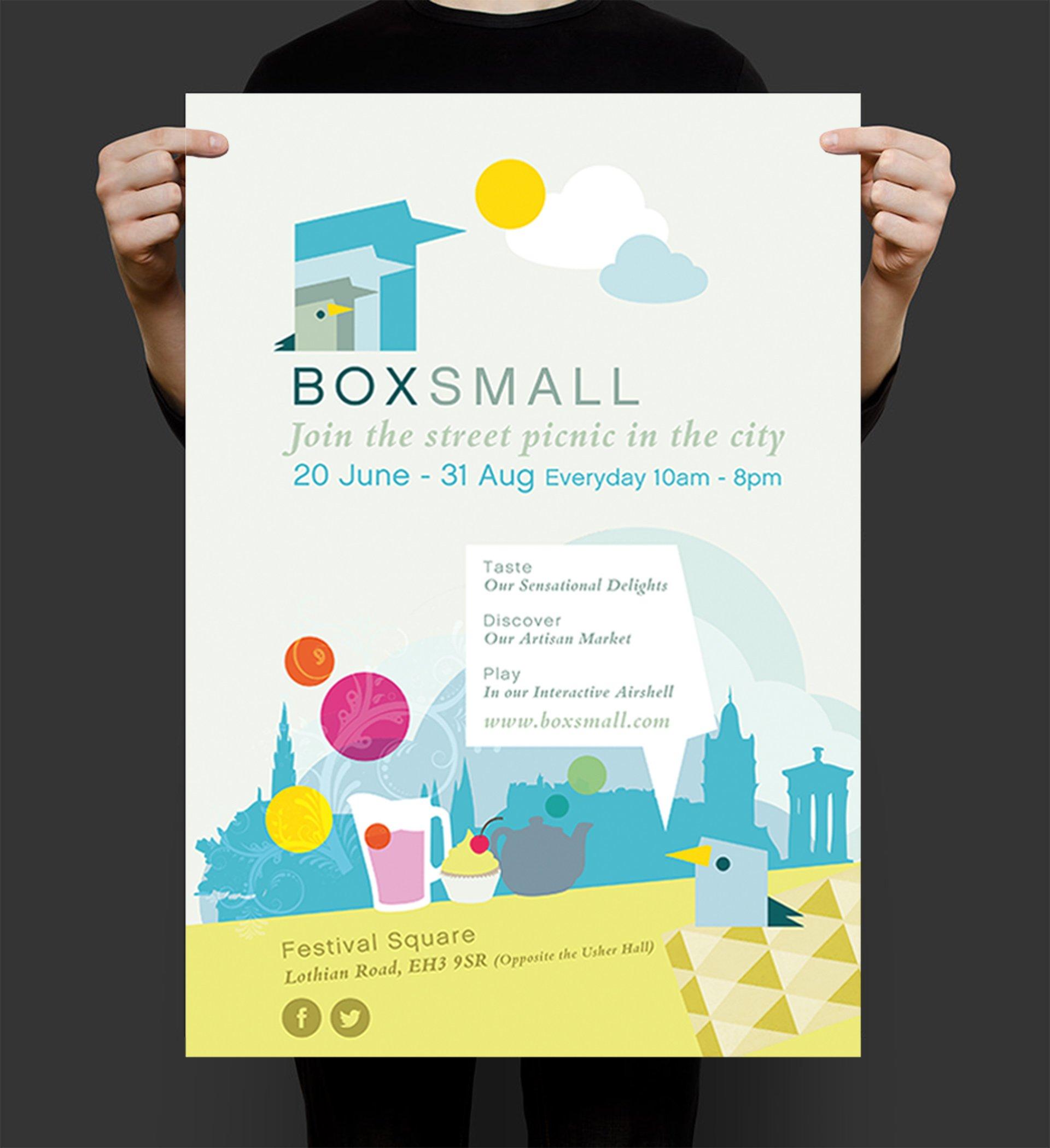 BoxSmall poster to market their 'Street Picnic' on Edinburgh Princes Street
