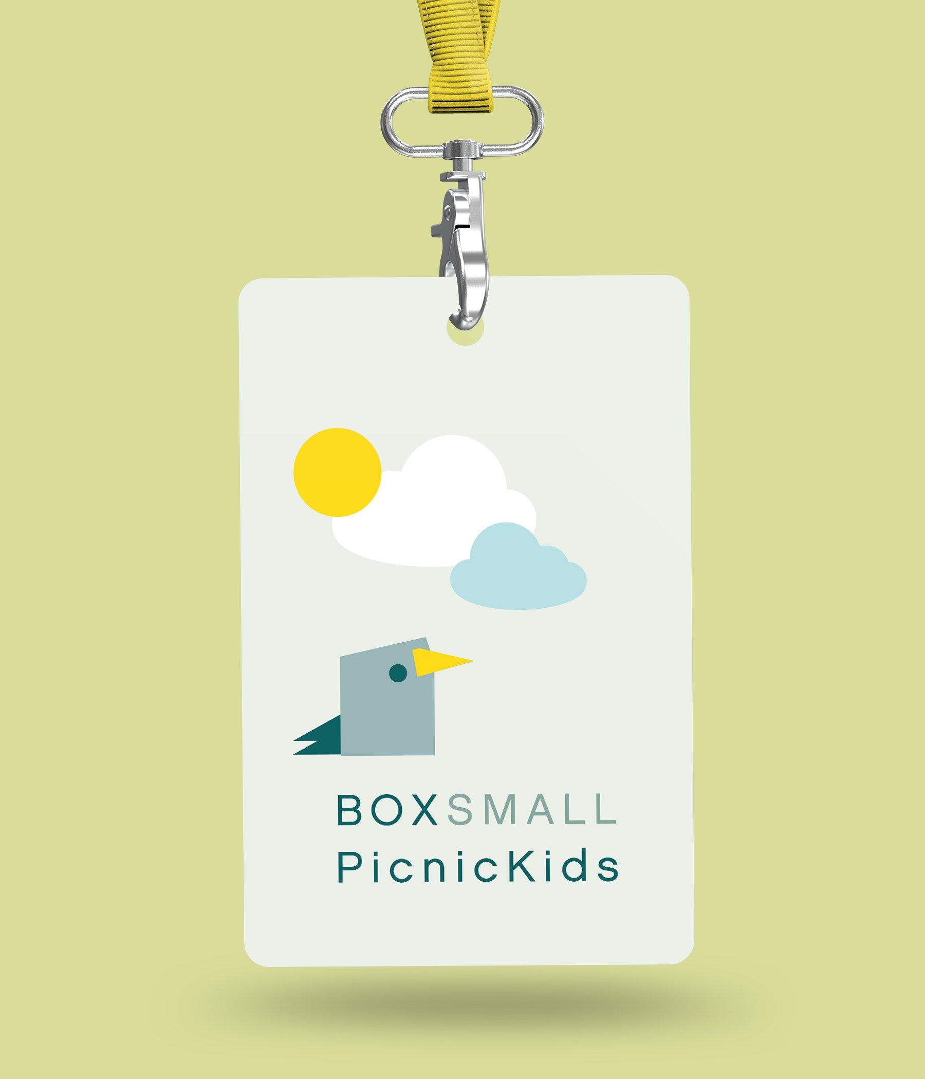 BoxSmall neck tags for 'Picnic Kids'