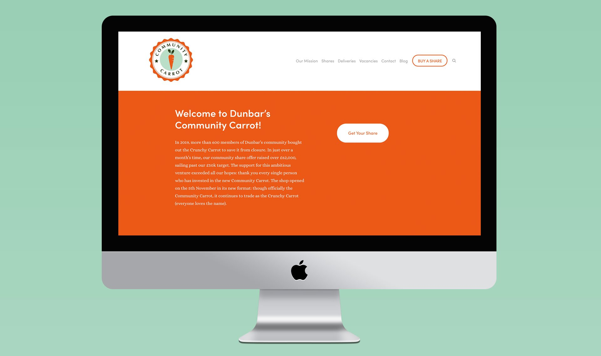 Community Carrot website design with Kate George and Ema J