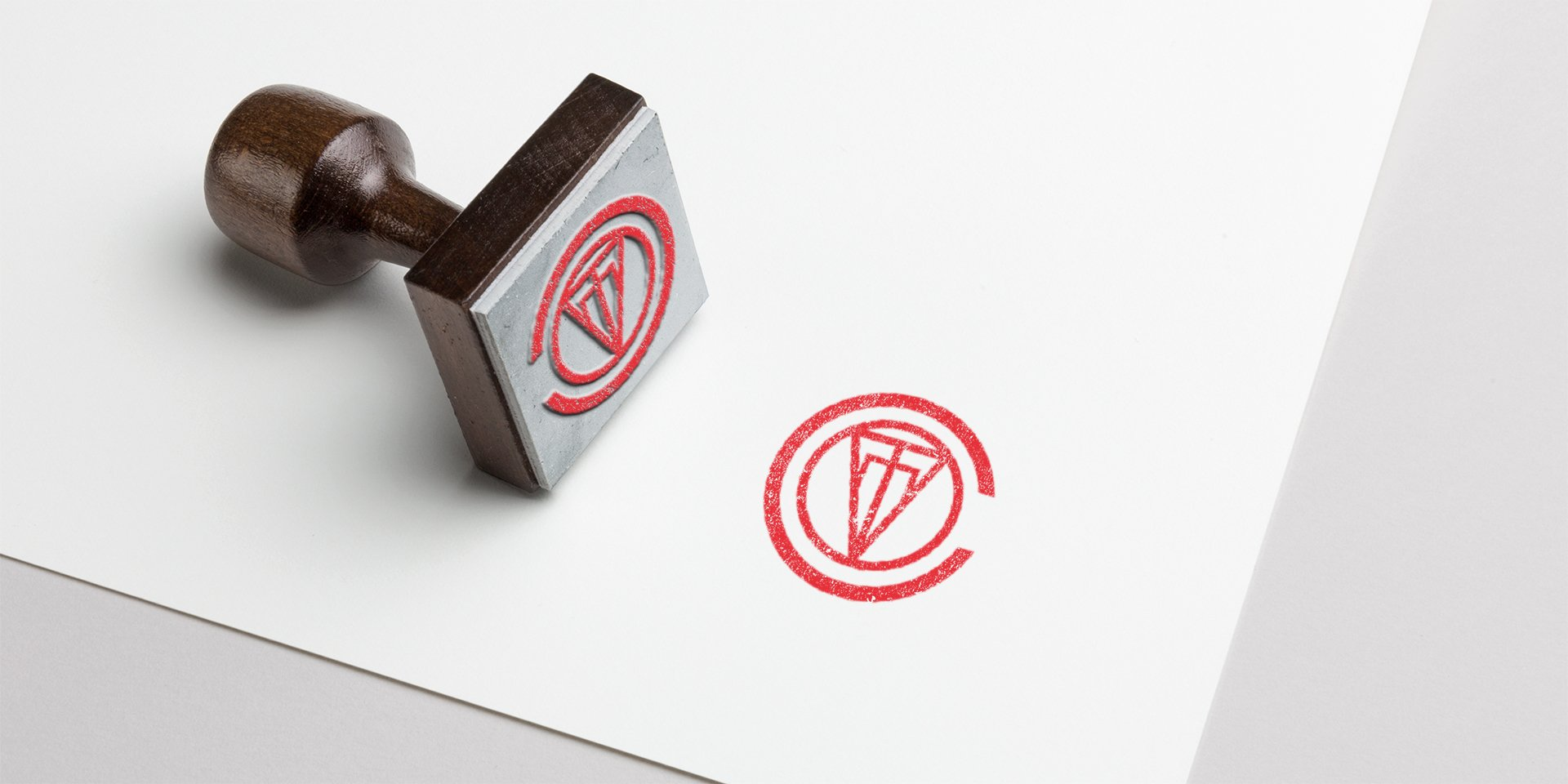 Covet logo ink stamp and ink stamper
