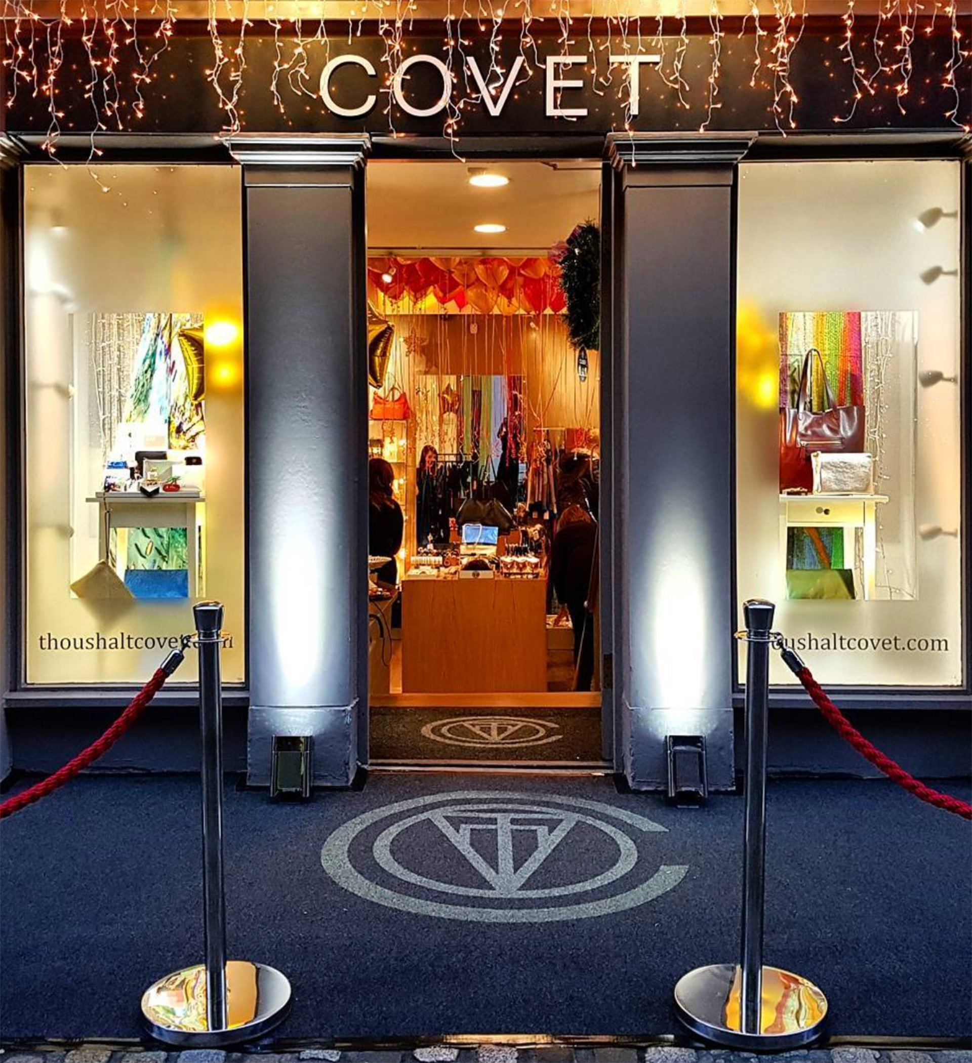 The exterior of Covet shop in Edinburgh