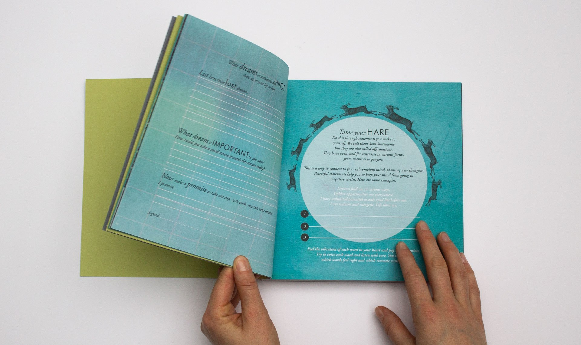Inbetween Book animation of hands flicking though the book