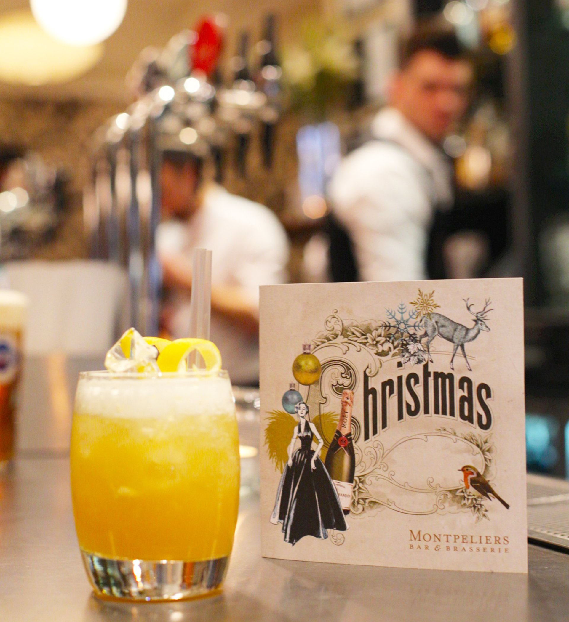 Artwork for Montpeliers vintage style Christmas drinks menus
