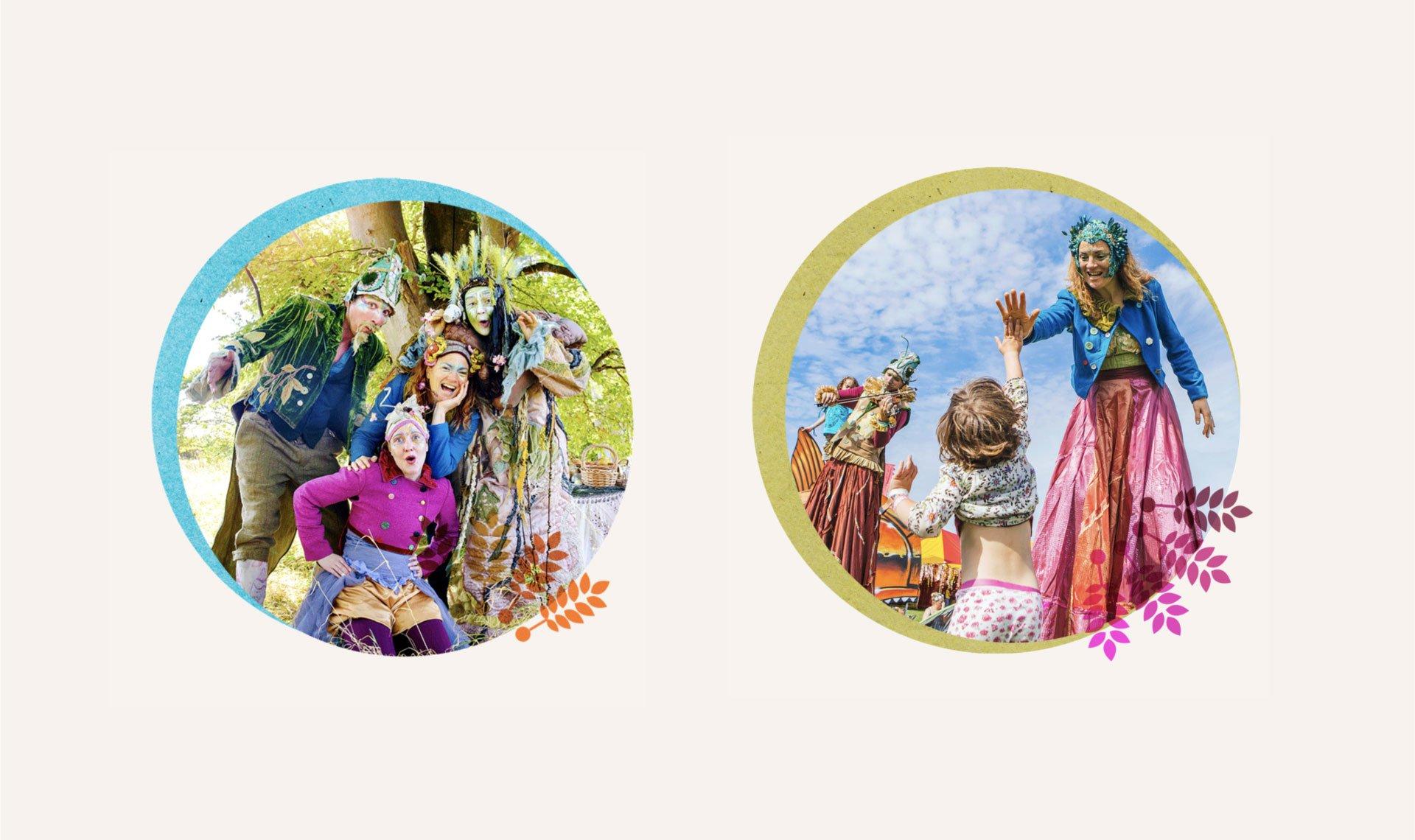 Rowanbank Environmantal Arts performers dressed up like woodland fairies